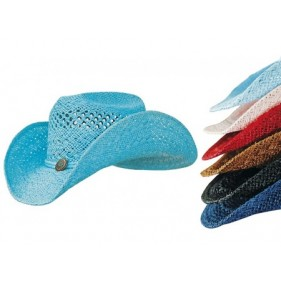 Chapeau Western Paille coloré